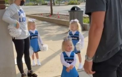Lions Quarterback Matthew Stafford's Wife Kelly and 3 Daughters Adorably Cheer Him for Season Opener