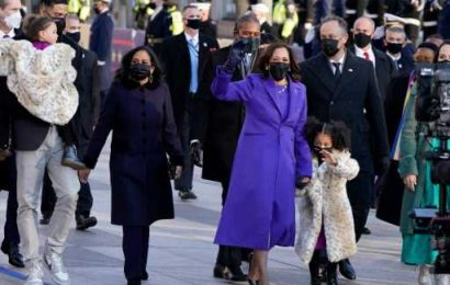 Kamala Harris's Grand-Nieces Stole the Inauguration (& Our Hearts) In Animal-Printed Coats