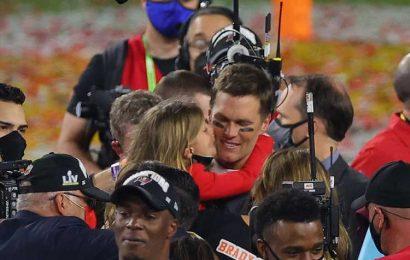 Tom Brady Celebrates Super Bowl LV Win with His Three Kids