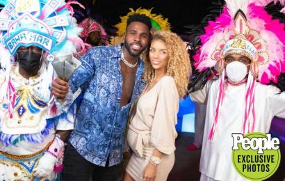 Jason Derulo, Pregnant Girlfriend Jena Frumes Reveal Sex of Baby with Fireworks Display in Bahamas